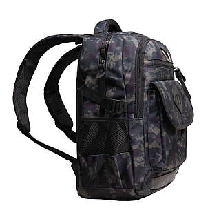 Рюкзак городской BagHouse 49х29х20 сине-серый ткань нейлон  кс3219син сер, фото 2