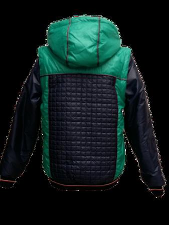 Детская демисезонная куртка-жилетка на мальчика зеленая, р.32-44, фото 2