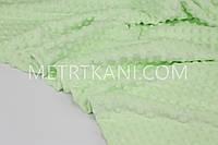 Плюш Minky светло-салатовый  350 г/м2 № м-62