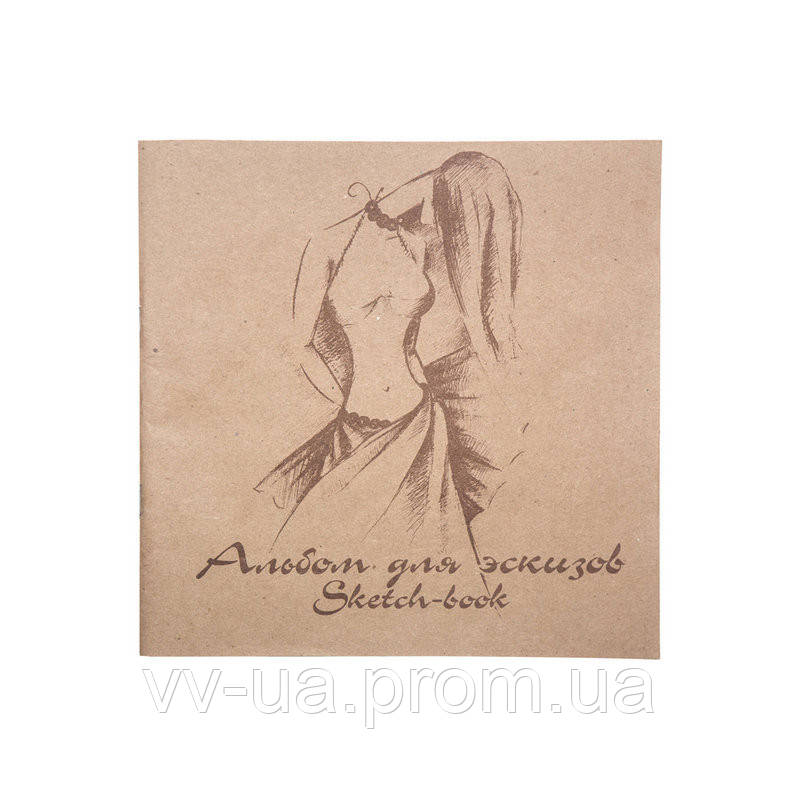 Альбом для эскизов Лилия Холдинг Мода, 21x21, 70/78 г/м2, 40 лист., с калькой