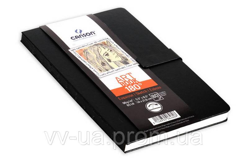 Блокнот для графики Canson 180*, 14x21,6, 96 г/м2, 80 лист., магнитная застежка, книжн.форм. (CON-200006460R)
