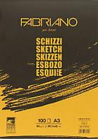 Склейка для эскизов Fabriano Schizzi Sketch, A3, 90 г/м2, 100 лист. (57729742)