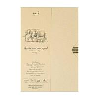 Склейка для эскизов Smiltainis Authentic в папке, A4, 135 г/м2, 80 лист., коричневый цвет (EA-80/NTB)