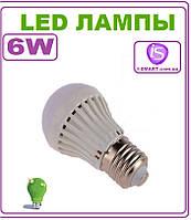 Лампочка светодиодная LED Е27, 6 Вт, 220 В