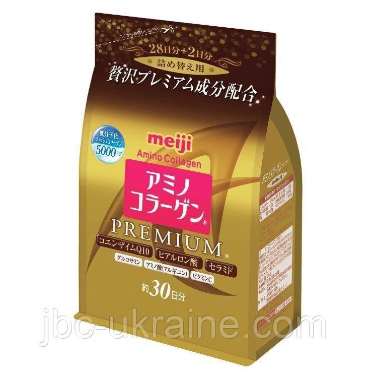 MEIJI Amino Collagen Premium, Японский коллаген, гиалуроновая кислота, коэнзимQ10, 214г ( на 30 дней)