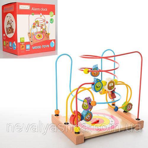 Деревянная игрушка Лабиринт Часы детский, MD 1101 009341