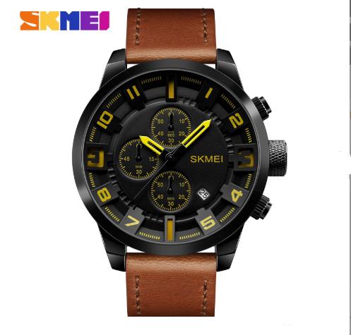 Мужские часы Skmei (Скмей)1309 Braun / Black / Red