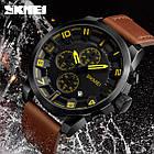 Мужские часы Skmei (Скмей)1309 Braun / Black / Red, фото 3