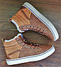 Женские коричневые кеды ботинки Vans Off the Wall, фото 6