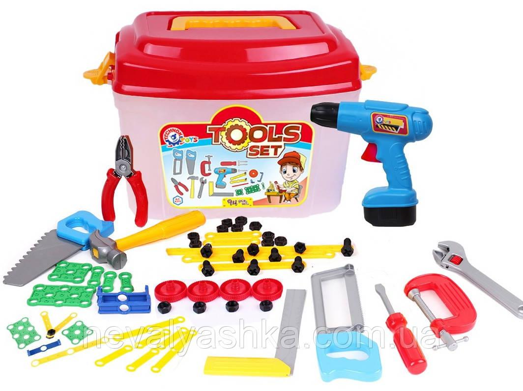 Набор Инструментов Технок чемодан, Инструменты Детские Игрушечные в чемодане 4395, 009351