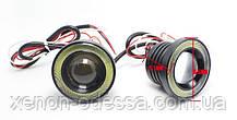 Мощные противотуманные фонари LED линзы 75 мм с Ангельскими Глазками, фото 3