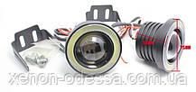 Мощные противотуманные фонари COB LED ПТФ линзы 75 мм + Ангельские глазки, фото 3
