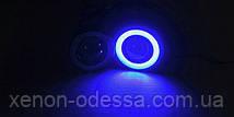Мощные противотуманные фонари COB LED ПТФ линзы 90 мм + Ангельские глазки, фото 3