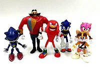 Игрушки Сонник ( Sonic ), 6 штук, фото 1
