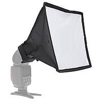 Рассеиватель накамерный портативный софтбокс Andoer 20х30см. на фотовспышку Canon Nikon