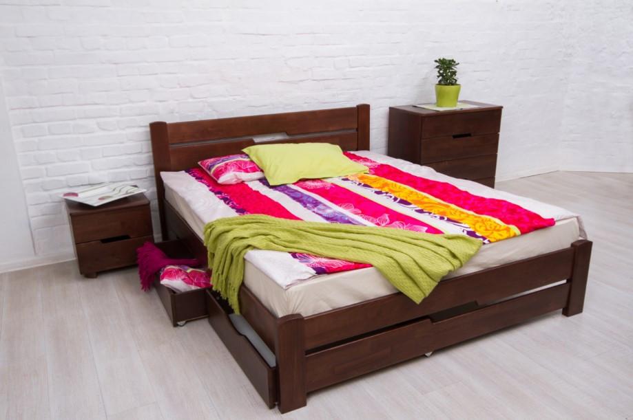 Ліжко Айріс з ящиками ТМ Олімп
