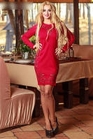 Платье орнамент красное