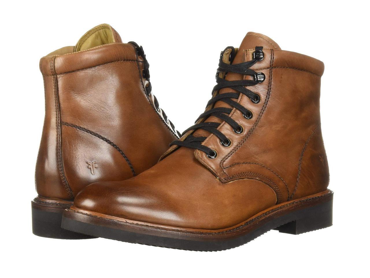 Ботинки Сапоги (Оригинал) Frye Gordon Lace-Up Cognac Hammered Dip ... 46d86fad19b