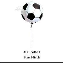 Фольгированный шар сфера 4D Футбольный мяч 60 см.