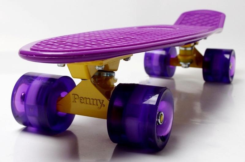 Penny Board Violet Гравировка Светящиеся колеса Гарантия качества Быстрая доставка