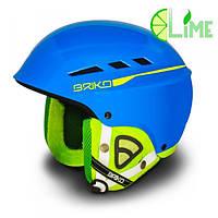 Шлем горнолыжный BOOM CASCO SCI SkyBlueLime, фото 1