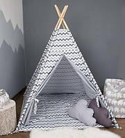 Детская палатка домик + коврик + 1 подушка, вигвам для детей, шалаш для деток, палатка для детей