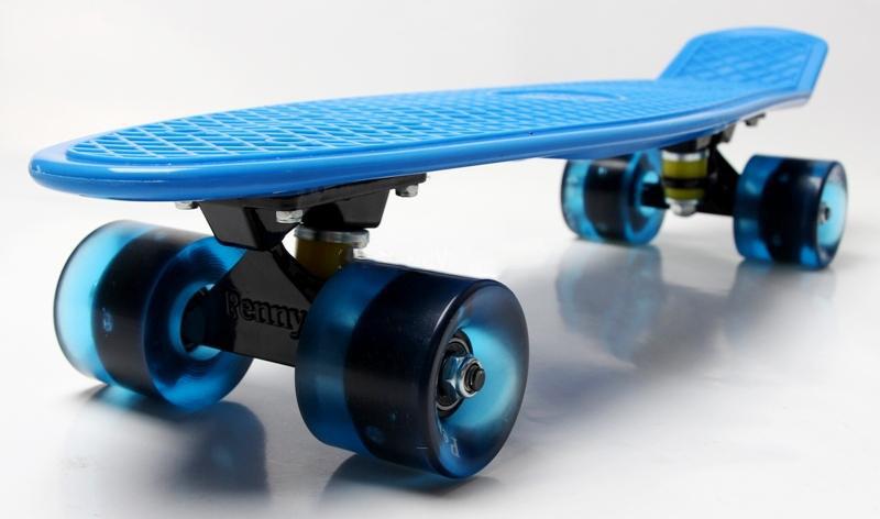 Penny Board Blue Гравировка Светящиеся колеса Гарантия качества Быстрая доставка