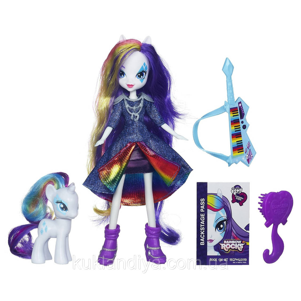 Кукла Рарити и пони My Little Pony Equestria Girls Rarity Doll and Pony Set