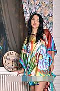 Шелковый халатик - кимоно для женщин