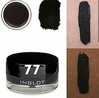 Подводка водостойкая для глаз Inglot  # 77 черная 1/4 баночки