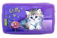 Пенал 3 отделения WL-7062 Милый котёнок, фото 1