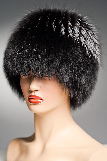 Шапка меховая Кубанка (Барбара) из песца (черная). - Меховые шапки a6ffbc6e57d19