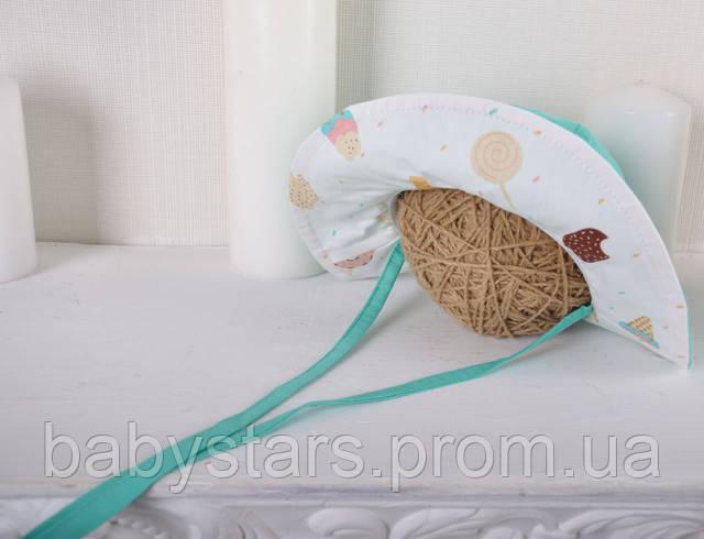 панамка для девочки на завязках