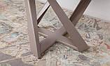 Обеденный круглый стол EDINBUR (Эдинбург) 110/155 мокко Nicolas (бесплатная адресная доставка), фото 4