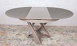 Обеденный круглый стол EDINBUR (Эдинбург) 110/155 мокко Nicolas (бесплатная адресная доставка), фото 3