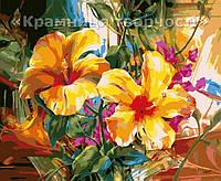 """Картина по номерам """"Яркий гибискус"""", VD062, 30х40см., фото 1"""