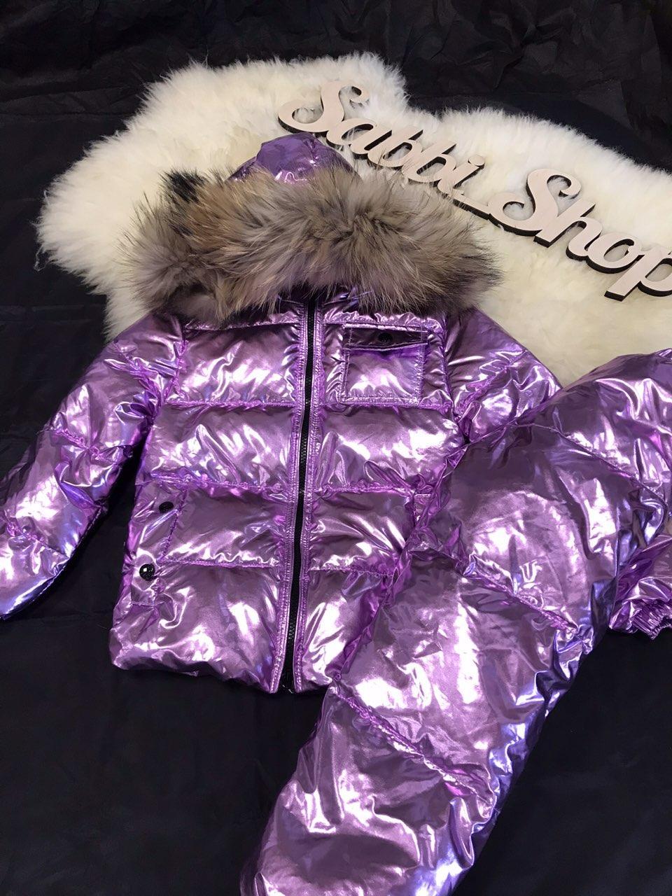 Детский зимний комбинезон Sabbi Purple Metallic