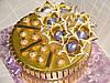 """Торт из золотого шоколада """"Голубые самоцветы"""""""