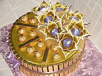 """Торт из золотого шоколада """"Голубые самоцветы"""", фото 1"""