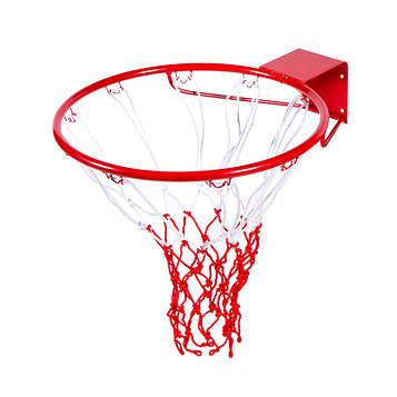 Баскетбольне кільце з сіткою (d кільця=45см, d труби=16мм)
