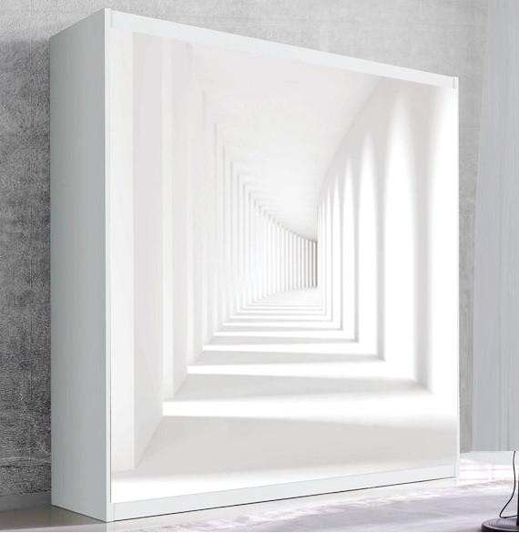 Шкаф для вертикальной кровати Small Double Белый тоннель