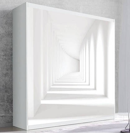 Шкаф для вертикальной кровати Small Double Белый тоннель, фото 2