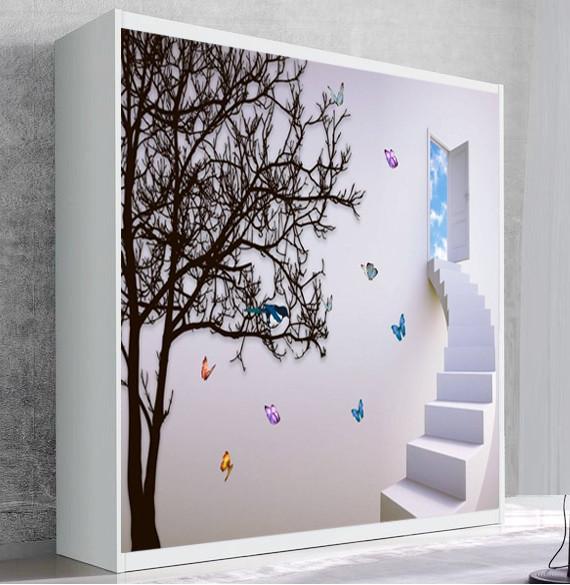 Шкаф для вертикальной кровати Small Double Лестница