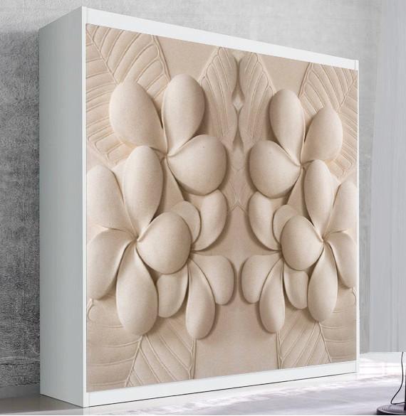 Шкаф для вертикальной кровати Small Double Кашемировые цветы