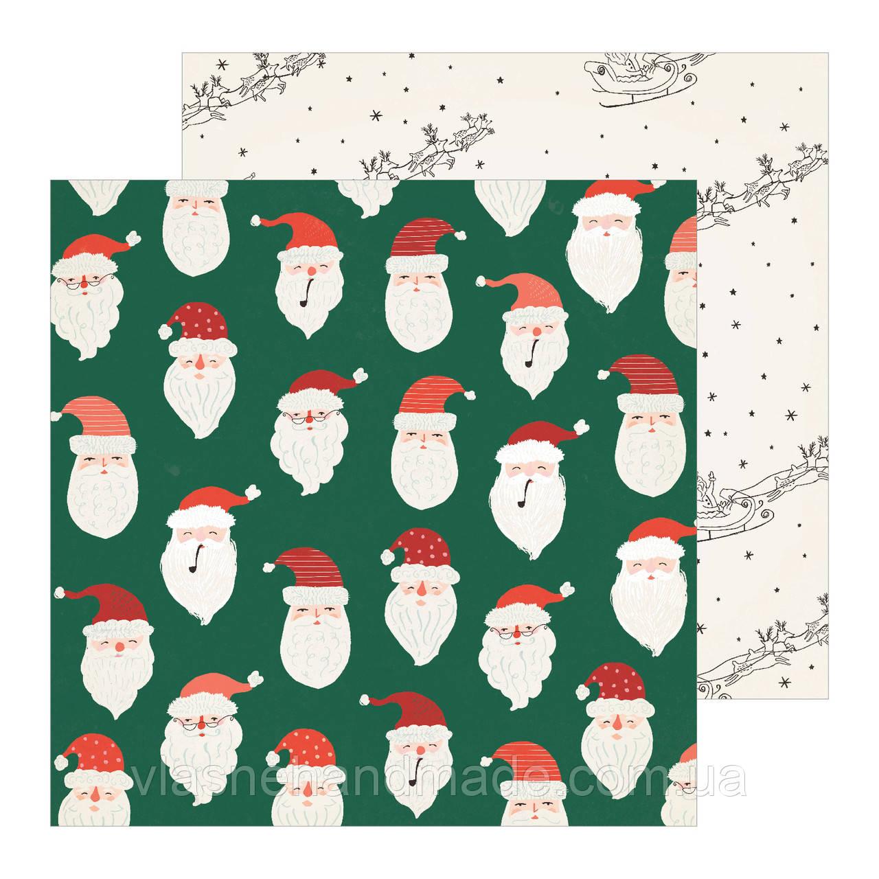 Папір двосторонній - BELIEVE - Merry Days - Crate Paper - 30х30