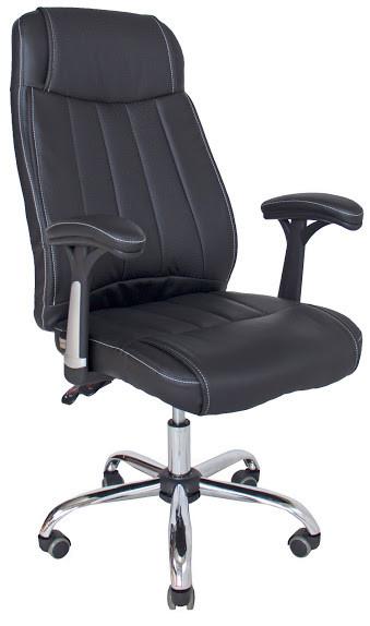 Офісне крісло Richman Фабіо чорний кожзам з перфорацією