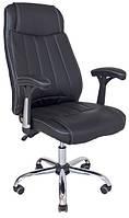 Офисное кресло Richman Фабио черный кожзам с перфорацией