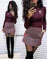 Короткая женская юбка из букле, фото 1
