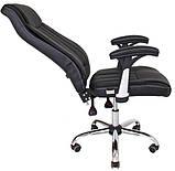 Офісне крісло Richman Фабіо чорний кожзам з перфорацією, фото 6