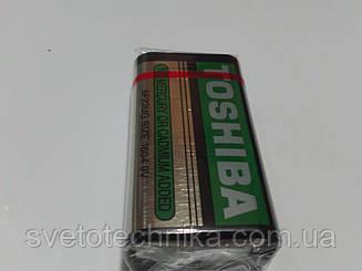 Батарейка солевая (упаковка 10шт.)Toshiba 6F22 9V